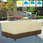 Large Waterproof Garden Patio Furniture Cover For Rattan Table Cube Outdoor US
