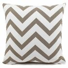 Decorative Throw Pillow Cover Canvas Cotton Chevron Design - New!