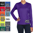 Ladies Plus Size Long Sleeve T-Shirt Moisture Wicking V-Neck Womens XL, 2X, 3X