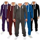 New Men's All In One Piece Two Zip Tracksuit Jogging Playsuit Jumpsuit S-XL
