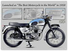 88236 Triumph Bonneville Motorcycle Wall Art Sign Decor LAMINATED POSTER AU $19.95 AUD on eBay