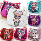 Girls LOL doll baby Coin Money Zip Wallet Bag Purse Birthday Cartoon Gift Kids
