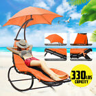 Hanging Chaise Lounger Chair Arc Stand Porch Swing Hammock Chair Canopy Indoor