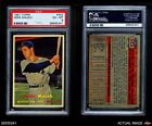 1957 Topps #342 Gene Mauch Red Sox PSA 6 - EX/MTBaseball Cards - 213