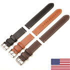US Genuine Leather Watch Band 20 22mm Wrist Strap Belt Fossil Quick Release Pins image