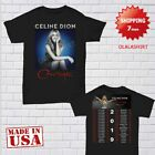 Celine Dion Shirt Courage World Tour 2019 T-Shirt Size Men Black Gildan 2 Side image