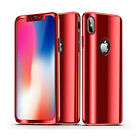 360° Full Cover Plating Slim Case+Tempered Glass For Apple iPhone Xs Max Xr Xs X