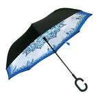 Double Layer Inverted Umbrella Windproof with UV Protection C-Shaped Handle