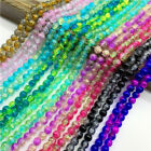 6/8/10mm Colors Crackle Glass Beads Round Loose Spaced Beads For Jewelry Making
