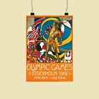 Olympics Stockholm 1912 vintage print - various sizes, framed & unframed