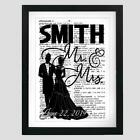 Personalized Wedding Dictionary Art Print Contemporary Anniversary Wedding Gift
