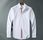19SS Men's NWT Thom-Browne Leisure Loose Cotton Shirt Simple Long Sleeve Shirts