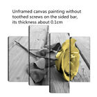 4Pcs Yellow Rose Floral Canvas Print Art Painting Wall Picture Home Decor Framed