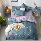 Sushi Food Print Cotton Blend Grey Duvet Cover Sets King Queen Full Twin Bedding image