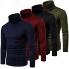US Hot Mens Thermal Turtle Neck Ski Turtleneck Sweaters Stretch Shirt Tops