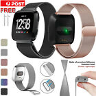 For Fitbit Versa Strap Wrist Milanese Magnetic Metal Stainless Steel Loop Band