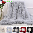 Warm Long Shaggy Bedding Blanket Fuzzy Microfiber Soft Throw Rug Cover 5 Colors image