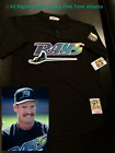 NEW Wade Boggs Tampa Bay Devil Rays Mens MN Black Teal Purple Retro BP Jersey