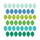 Patterned Leaves Fabric Wall Stickers