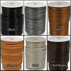 Round Leather Cord By Craft County - In 4mm, 5mm, & 6mm Sizes - 6 Color Options