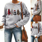 UK Womens Christmas Tree Tops Ladies Long Sleeve Xmas Sweatshirt Pullover Jumper