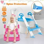 Kids  Potty Trainer Seat Chair Toddler Stool With Training Step Ladder Toilet Up image