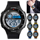 SKMEI 1465 Mens Watch Countdown LED Digital Wrist Watches Outdoor Military Black image