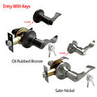 Door Handle Lock Set Entry with Keys Passage Privacy Dummy Knobs Deadbolt Home