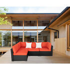 Outdoor Rattan Wicker Sofa Set Patio Furniture Garden Sectional Cushioned Sofa