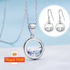 Circle Lake Pendant 925 Sterling Silver Chain Necklace Womens Girls Jewellery