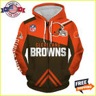 FREESHIP 3D HOODIE Cleveland Browns Zip Hoodies 3D Long Sleeve Made In USA $53.99 USD on eBay