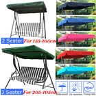 US 2&3 Seater Sizes Spare Cover Replacement Canopy Swing Seat for Garden