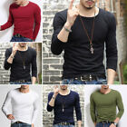 Mens Long Sleeve Casual T Shirt Sport Running Gym Slim Fit Muscle Tee Top Blouse