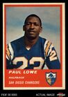 1963 Fleer #69 Paul Lowe Chargers Oregon St 5 - EX $17.5 USD on eBay