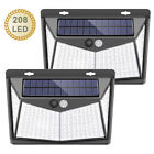 208 LED Solar Power PIR Motion Sensor Security Lamps Outdoor Garden Wall Lights