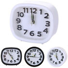 Square Round Quartz Alarm Clocks Analogue Small Silent Snooze Battery Operated