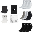 NIKE SOCKS GENUINE MENS WOMEN UNISEX LONG 3 PAIR BLACK WHITE SPORT SOCKS 34-50