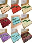 Ship From USA Artificial Flowers 25pcs Fake Rose Latex Foam with Stem Wedding