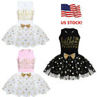 Baby Kids Girls Birthday Clothes Outfit Bow Tutu Skirt Dress Top Shirt Party Set