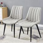 Modern Slope Dining Chair Leather Seat Back Legs Kitchen Living Study Room Set