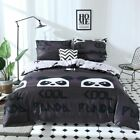 Set Cover Panda Bedding Duvet Pillowcase Quilt Cartoon Floral Comfortable Pillow