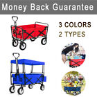 FOLDING CAMPING SHOPPING HAND CART OUTDOOR GARDEN WAGON TROLLEY PULL HEAVY DUTY