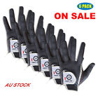 Men Rain Grip 6 Pack Golf Gloves Wet Weather Right Hand Left Black Grey ON SALE