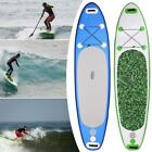 10' Inflatable Stand Up Paddle Board SUP Fin Adjustable Paddle Backpack Free Bag