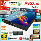A95X R3 Android 9.0 Internet TV Box RK3318 4GB 64GB 2.4&5G Wifi Smart 4K Media