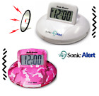 Sonic Alert Super Loud Travel Alarm Clock Digital 90dB Bed Shaker Flashing  PICK