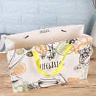 12PCS Gift Bags with Handle Cartoon Fruit Tea Printed Paper Tote for Party Candy