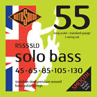 Rotosound Solo Bass 55 Stainless Steel Pressurewound 5 String set 45-130 RS555LD