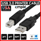 Kyпить Printer Cable USB 2.0 A to B A Male to B Male for HP Cannon Epson Dell Brother на еВаy.соm