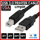 Внешний вид - Printer Cable USB 2.0 A to B A Male to B Male for HP Cannon Epson Dell Brother